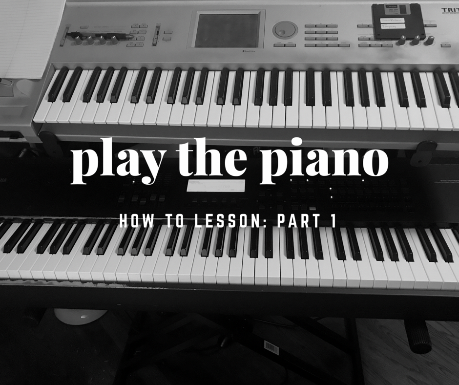 How to play the piano for beginners, Lesson 1 – ryanwelton.com