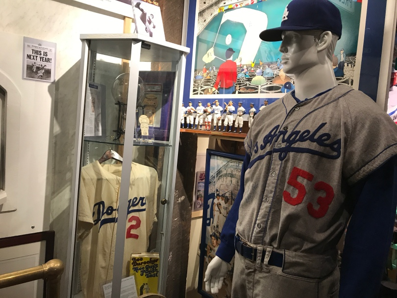 Los Angeles Dodgers gear at National Ballpark Museum