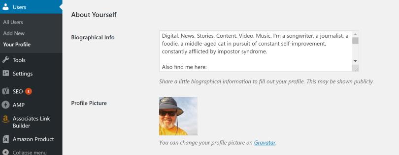 wordpress-profile-update