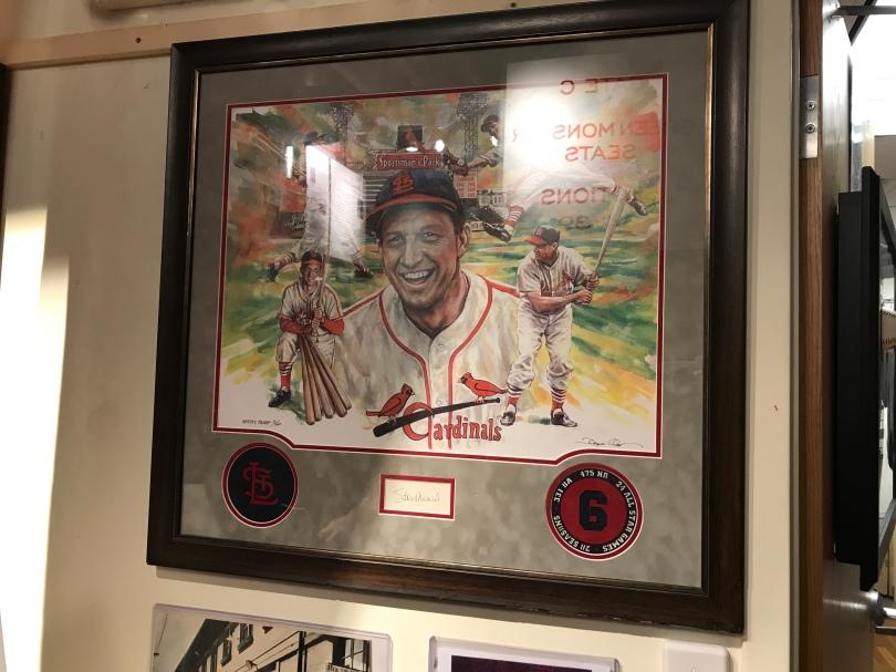 Stan Musial memorabilia in St, Louis